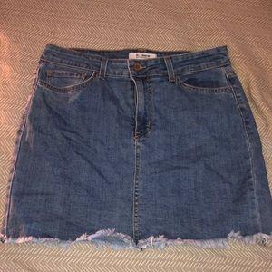 O2 (lulus) denim mini skirt!